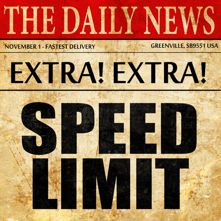 65 70: speed limit, newspaper article text