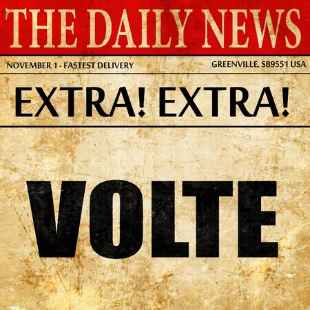 volte: volte dance, newspaper article text Stock Photo