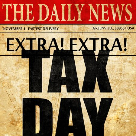 tax day, newspaper article text