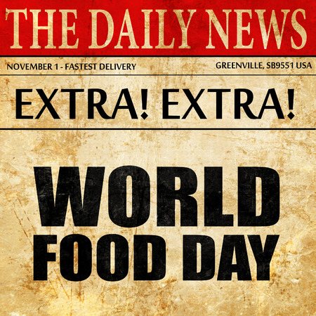 world food day, newspaper article text