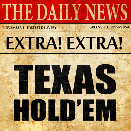 texas holdem, newspaper article text