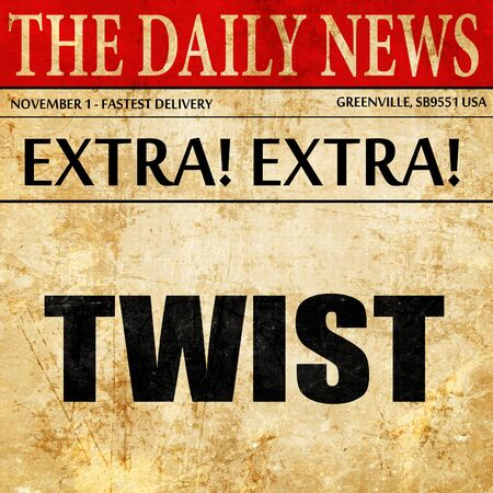 counterculture: twist dance, newspaper article text