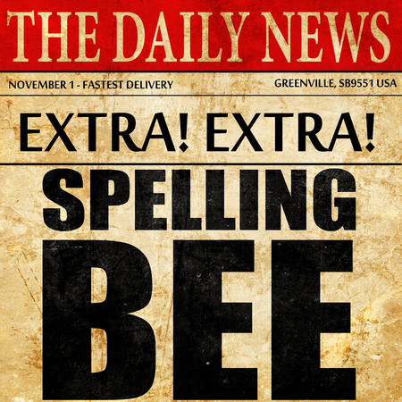 spelling bee, newspaper article text