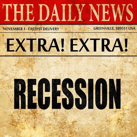 article: recession, newspaper article text