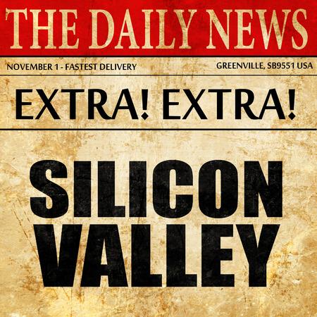 silicio: silicon valley, newspaper article text