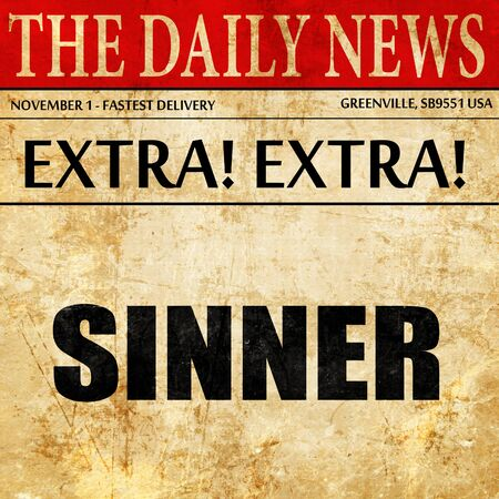 sinner: sinner, newspaper article text