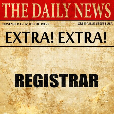 registrar: registrar, newspaper article text