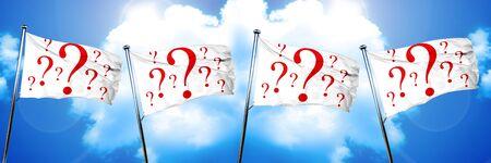 question mark flag, 3D rendering
