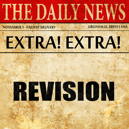 revision: revision, newspaper article text