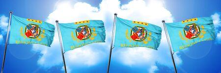 lazio: Lazio flag, 3D rendering