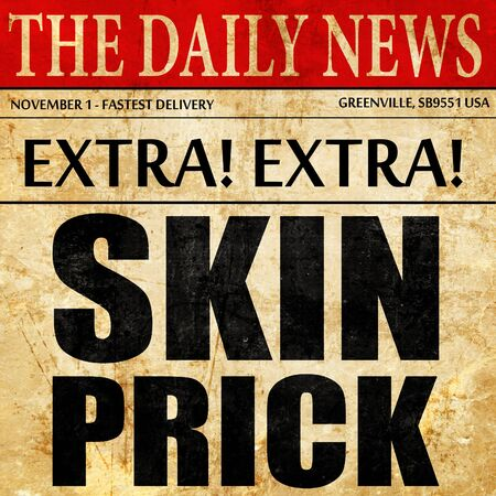 prick: skin prick, newspaper article text