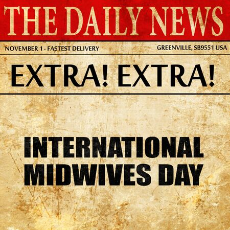 observance: international midwives day, newspaper article text
