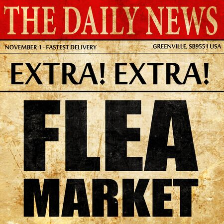 flea market, newspaper article text
