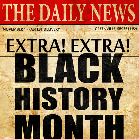 black history month, newspaper article text
