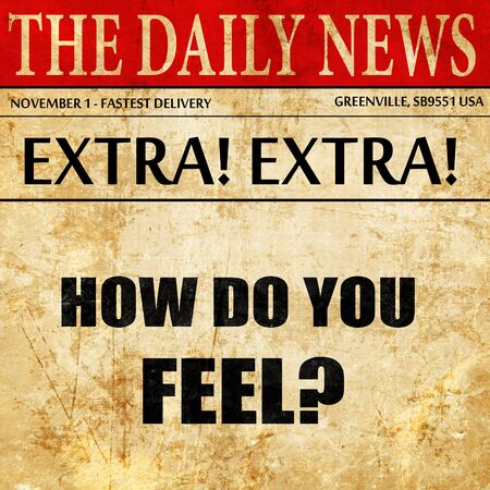 conjecture: how do you feel, newspaper article text