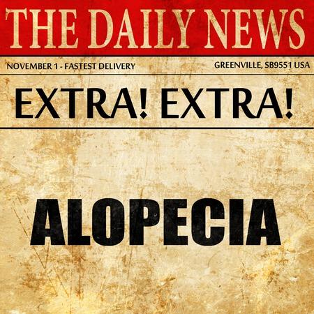 alopecia, newspaper article text
