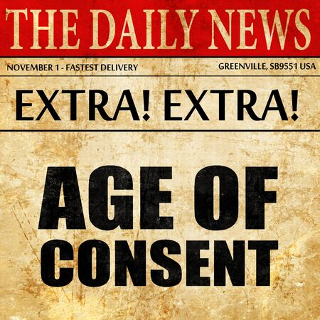 consent: age of consent, newspaper article text