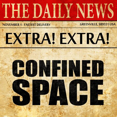 confined: confined space, newspaper article text