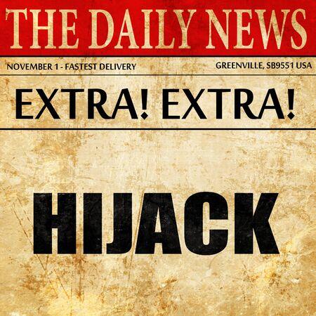 hijack: hijack, newspaper article text