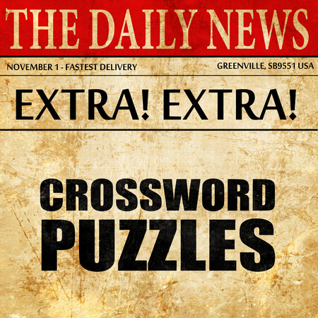 brainteaser: crossword puzzles, newspaper article text