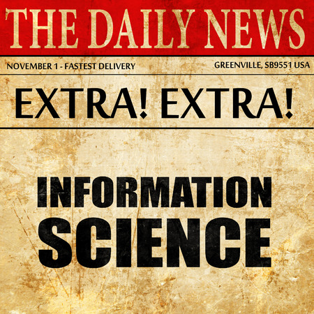 information science: information science, newspaper article text
