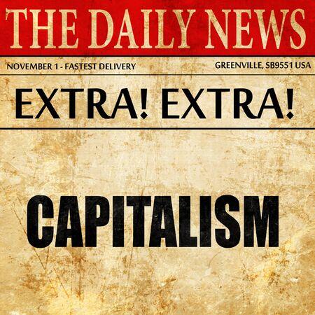 capitalism: capitalism, newspaper article text