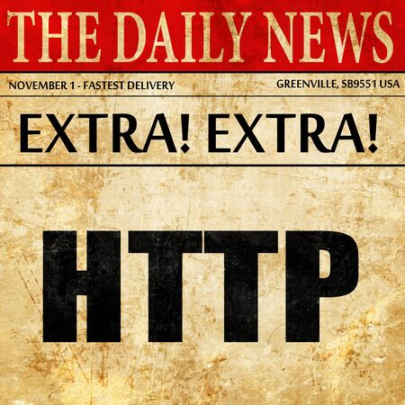 http: http, newspaper article text