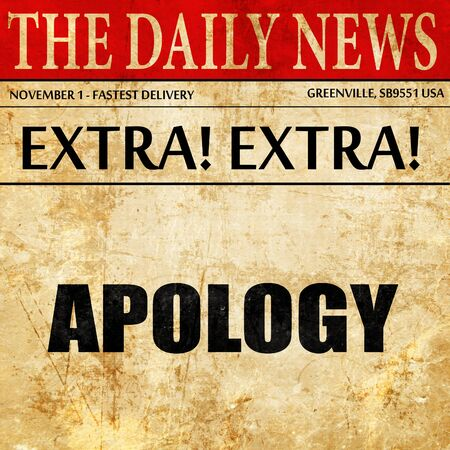 implore: apology, newspaper article text