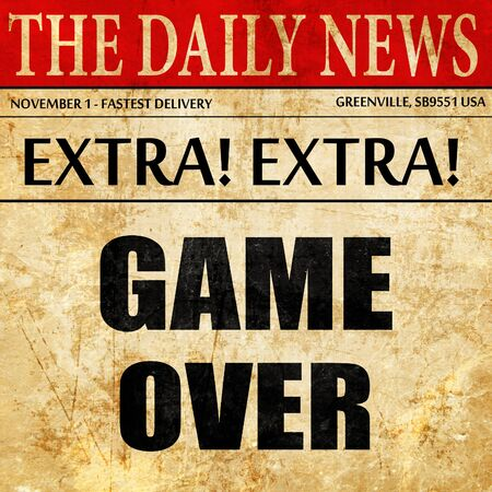 unsuccess: game over, newspaper article text