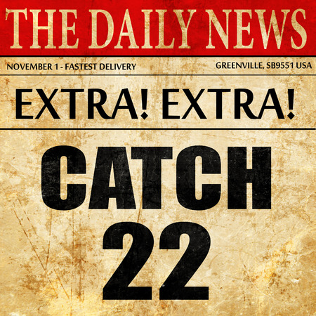 catch, newspaper article text Stock Photo