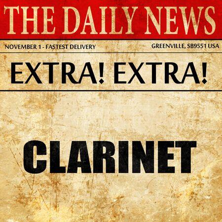 clarinet: clarinete, artículo de prensa de texto