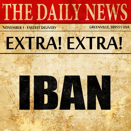 international bank account number: IBAN, newspaper article text