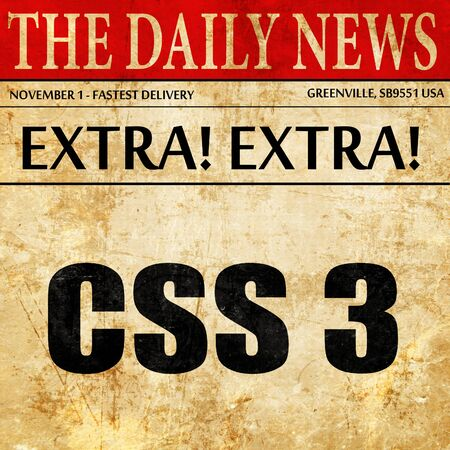 css: css 3, newspaper article text