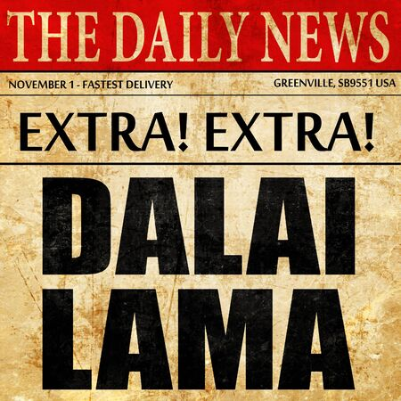dalai: the Dalai lama, newspaper article text
