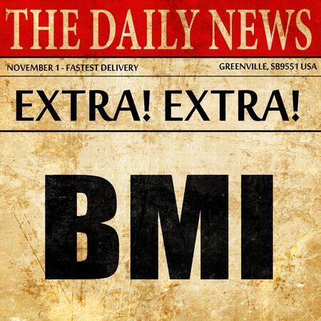 BMI: bmi, newspaper article text
