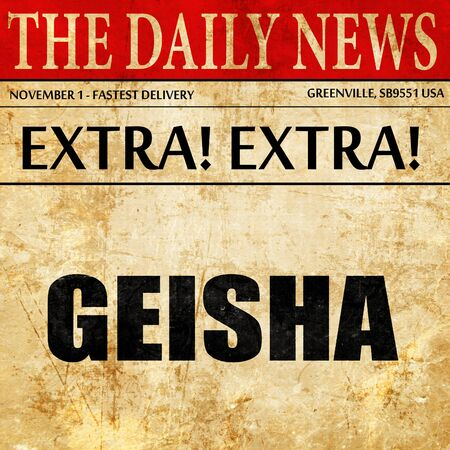 maiko: geisha, newspaper article text