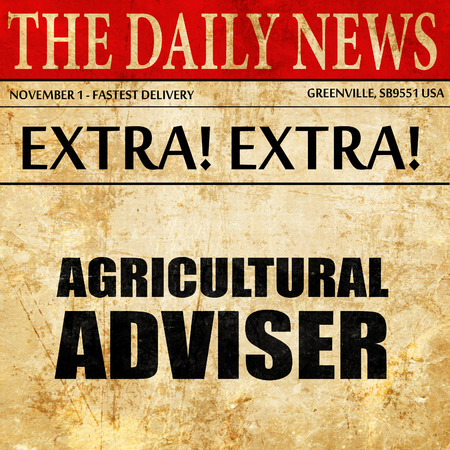 tariff: agricultural adviser, newspaper article text