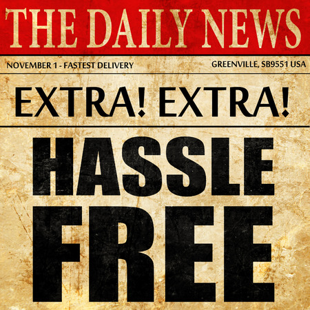 hassle: hassle free, newspaper article text