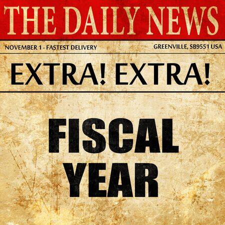 fiscal: fiscal year, newspaper article text