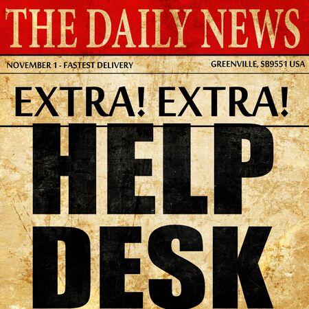 helpdesk: Helpdesk, newspaper article text