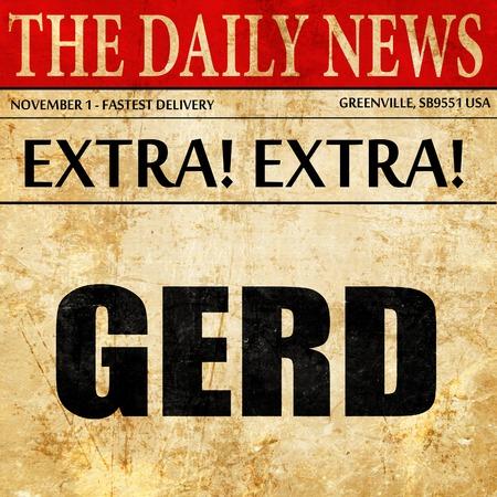 sphincter: Gerd, newspaper article text