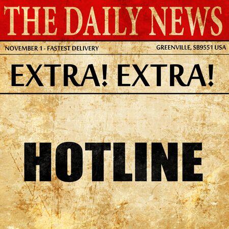 hotline: hotline, newspaper article text
