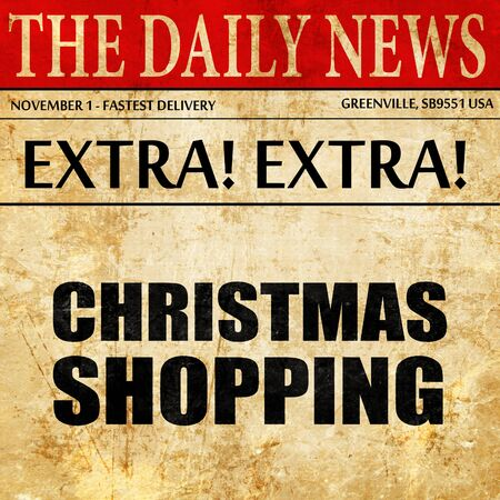 retailing: christmas shopping, newspaper article text Stock Photo