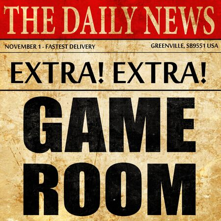 snooker rooms: game room, newspaper article text