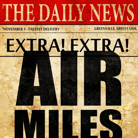frequent: air miles, newspaper article text