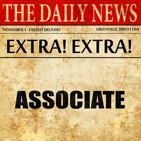 associate: associate, newspaper article text