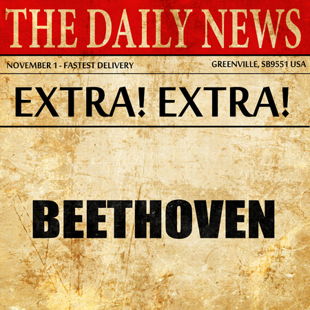 beethoven: beethoven, newspaper article text