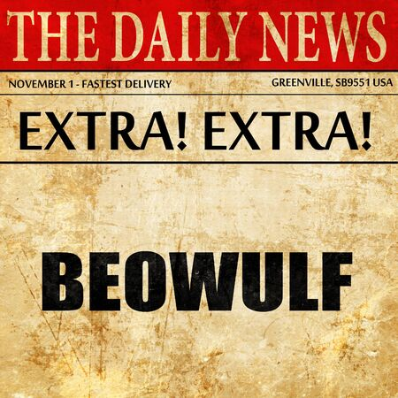 monster movie: beowulf, newspaper article text