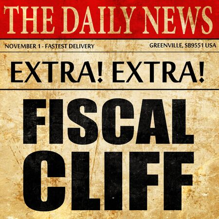fiscal cliff: fiscal cliff, newspaper article text