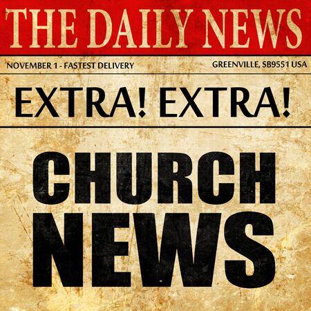 church news, newspaper article text Stock Photo